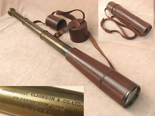 Broadhurst Clarkson 3 draw field telescope retailed by H Salanson & Co.