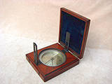19th century mahogany cased surveyors compass by Edward Bryan, Manchester.