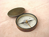 Antique 19th century Francis Barker brass cased compass circa 1880