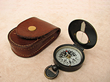Early 20th century RGS pattern compass with leather case