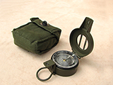Francis Barker M88 prismatic compass with pattern 58 canvas pouch