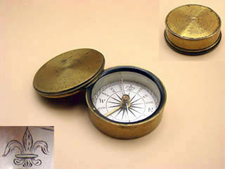 Early 19th Century Victorian brass compass