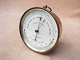 19th century Holosteric Barometer with thermometer signed G.H & C Gowland, Sunderland.