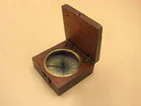Impressive Georgian mahogany cased pocket compass circa 1830