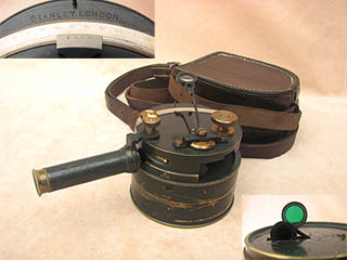 Genuine Stanley London pocket sextant with extending telescope