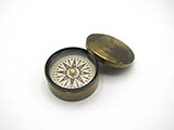 Mid 19th century brass cased pocket compass by James Parkes.