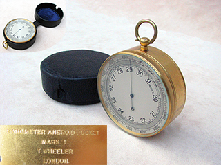 1930s Air Ministry MK I aneroid pocket barometer by T Wheeler