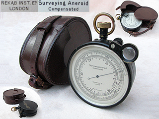 Compensated aneroid Surveying Barometer by Rekab Instruments Ltd