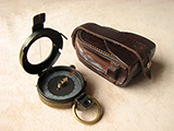 WW1 Bausch & Lomb 1917 Verners Pattern MK VIII marching compass with case