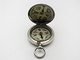 WW1 F Darton MK VI Officers pocket compass dated 1917 with leather case