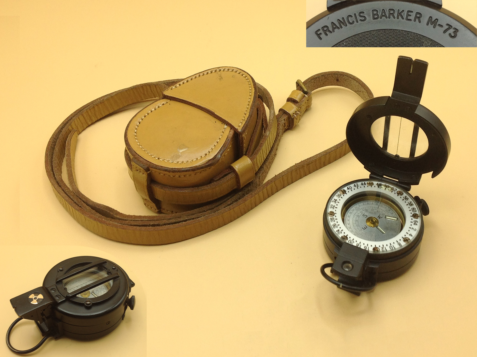 Francis Barker M-73 military prismatic compass