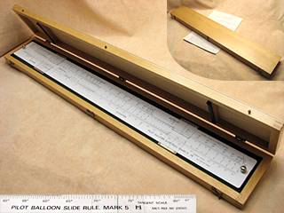 Rare Air Ministry Met Office Pilot Balloon MK 5 Slide Rule in fitted case