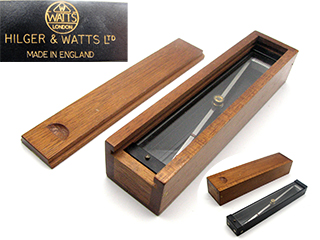 Hilger & Watts plane table trough compass in mahogany case