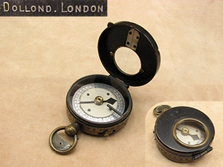 Late 19th century Dollond early verners style marching compass