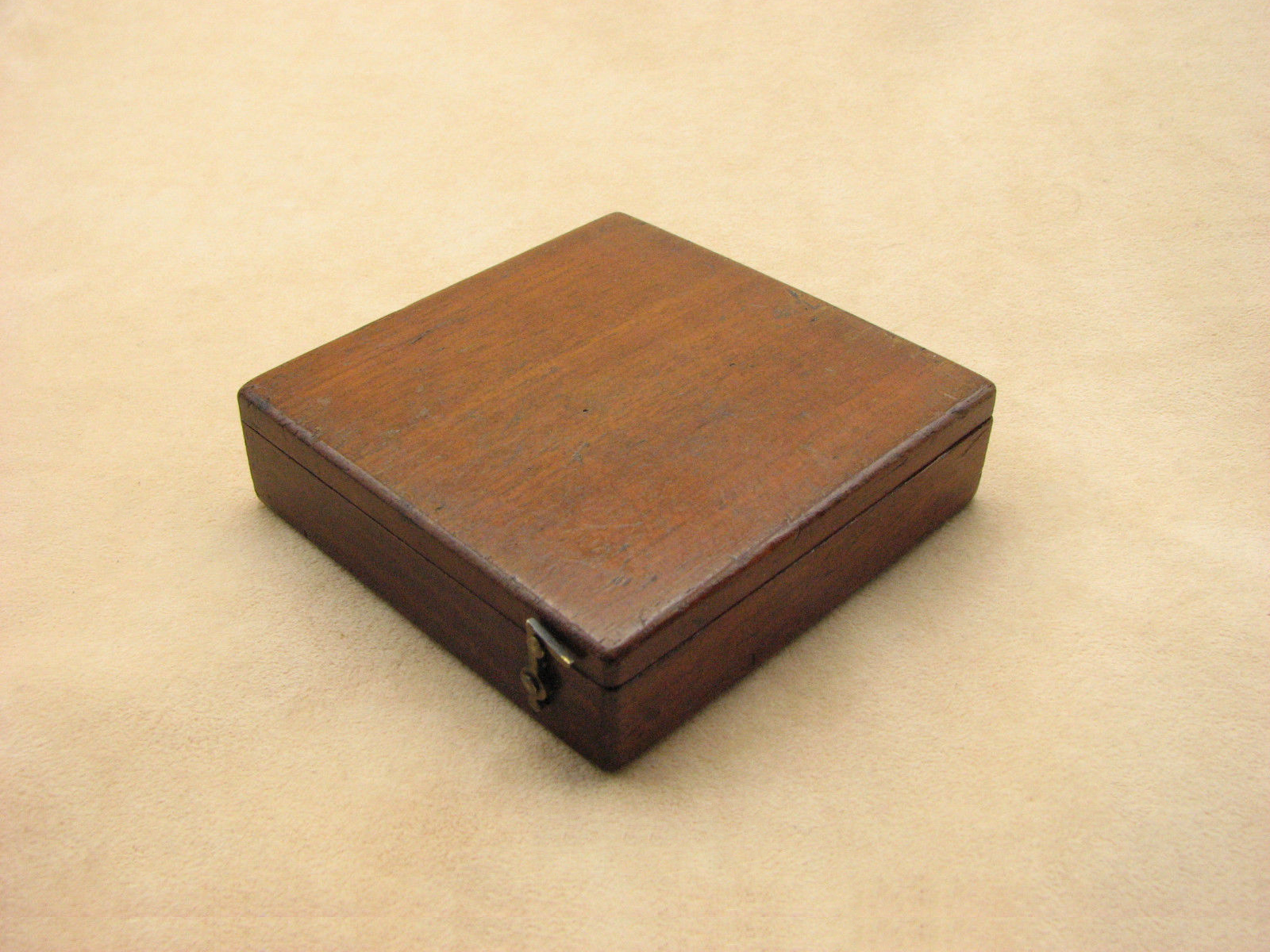 Victorian combined pocket compass & clinometer in mahogany case