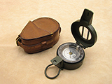 Francis Barker M88 military prismatic compass with dual use dial in leather case.