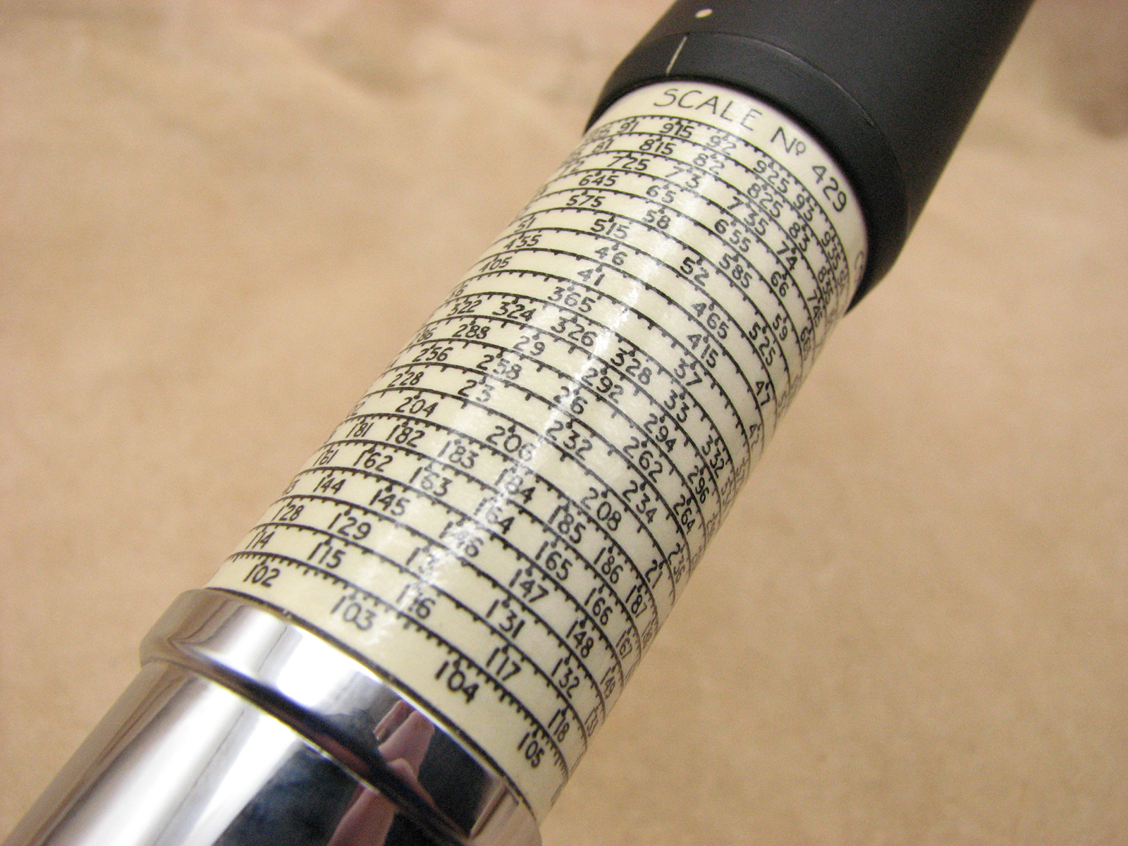 1960's Otis King Model L type C cylindrical slide rule with instructions