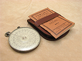 1930's Fowlers Universal Calculator in leather case with instruction booklet