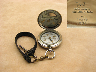 Rare Dennison WW1 MK VI compass with Union of South Africa military markings