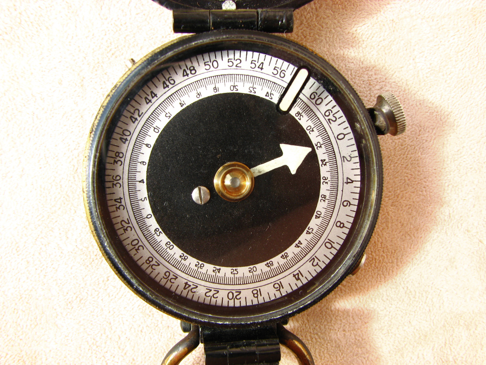 Post WWI Verner's Pattern style MK VIII Italian marching compass with mils dial