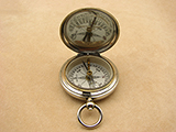 Rare Negretti & Zambra needle pocket compass in Dennison case