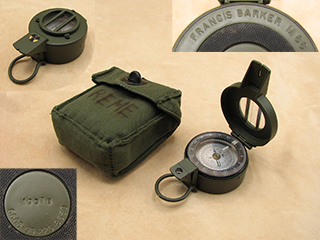Francis Barker M88 mils & degrees prismatic compass with pattern 58 canvas pouch