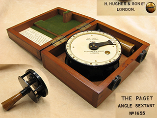 Henry Hughes & Son 'The Paget' angle sextant with case