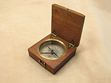 Georgian mahogany cased pocket compass circa 1830