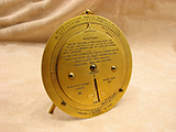Rare 1920's Negretti & Zambra brass desktop weather forecaster