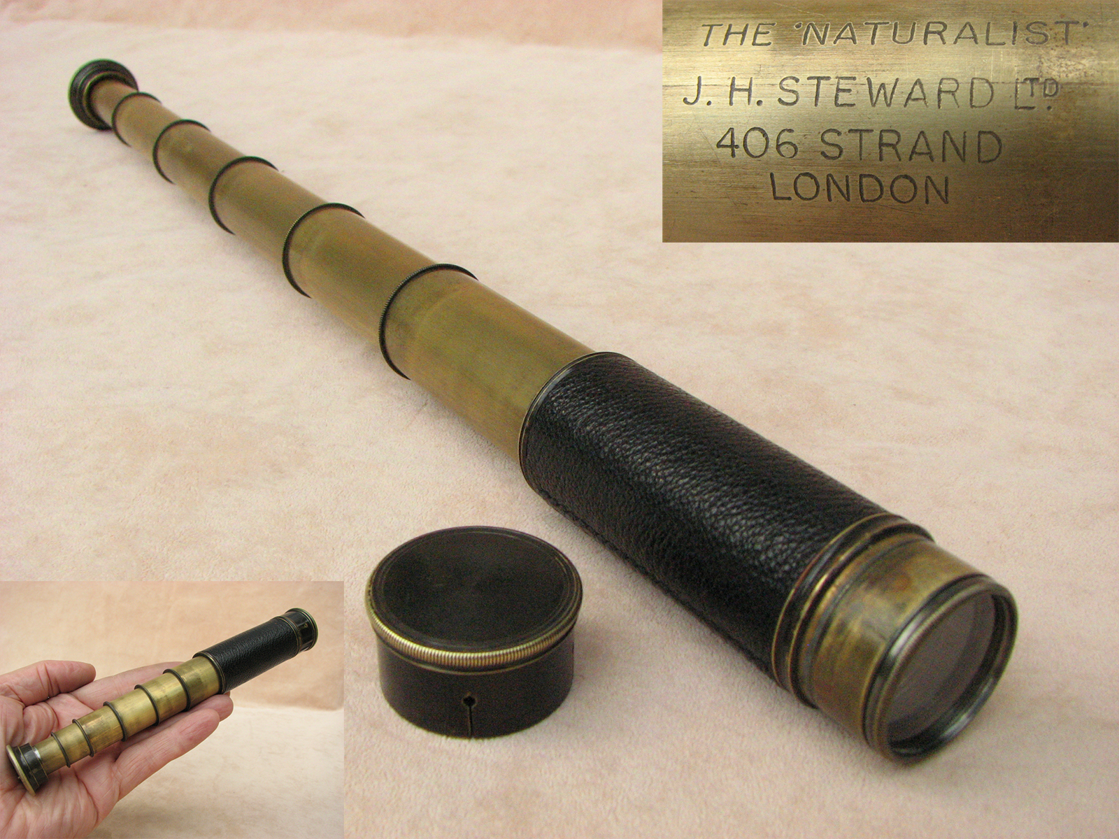 J.H. Steward 6 draw pocket telescope 'The Naturalist'