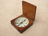 Late Victorian mahogany cased pocket compass