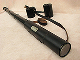 Late 19th century pancratic telescope giving 9 levels of magnification up to 42x