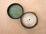 19th century pocket barometer signed LENNIE EDINBURGH.