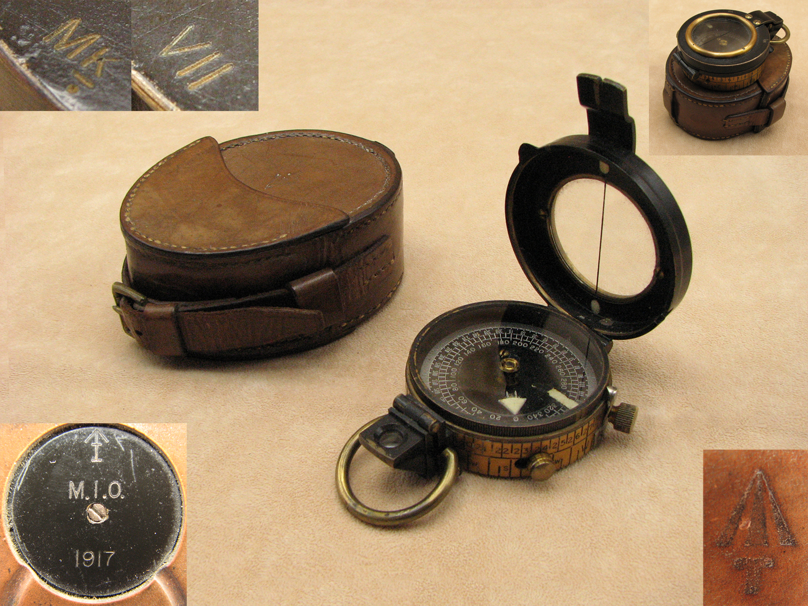 Rare WW1 Francis Barker Mk VII compass made for the Indian Army