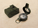 Francis Barker M88 military compass with dual use dial & pattern 58 canvas pouch