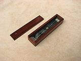 WW1 J H Steward Trough compass in mahogany case dated 1916