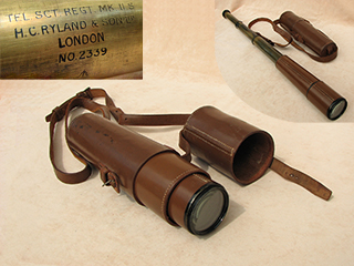 WW2 Scout Regiment field telescope by H C Ryland and Son.