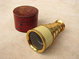 Rare Regency period monocular spyglass signed DOLLOND LONDON.