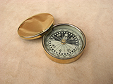 Francis Barker19th Century brass case pocket compass