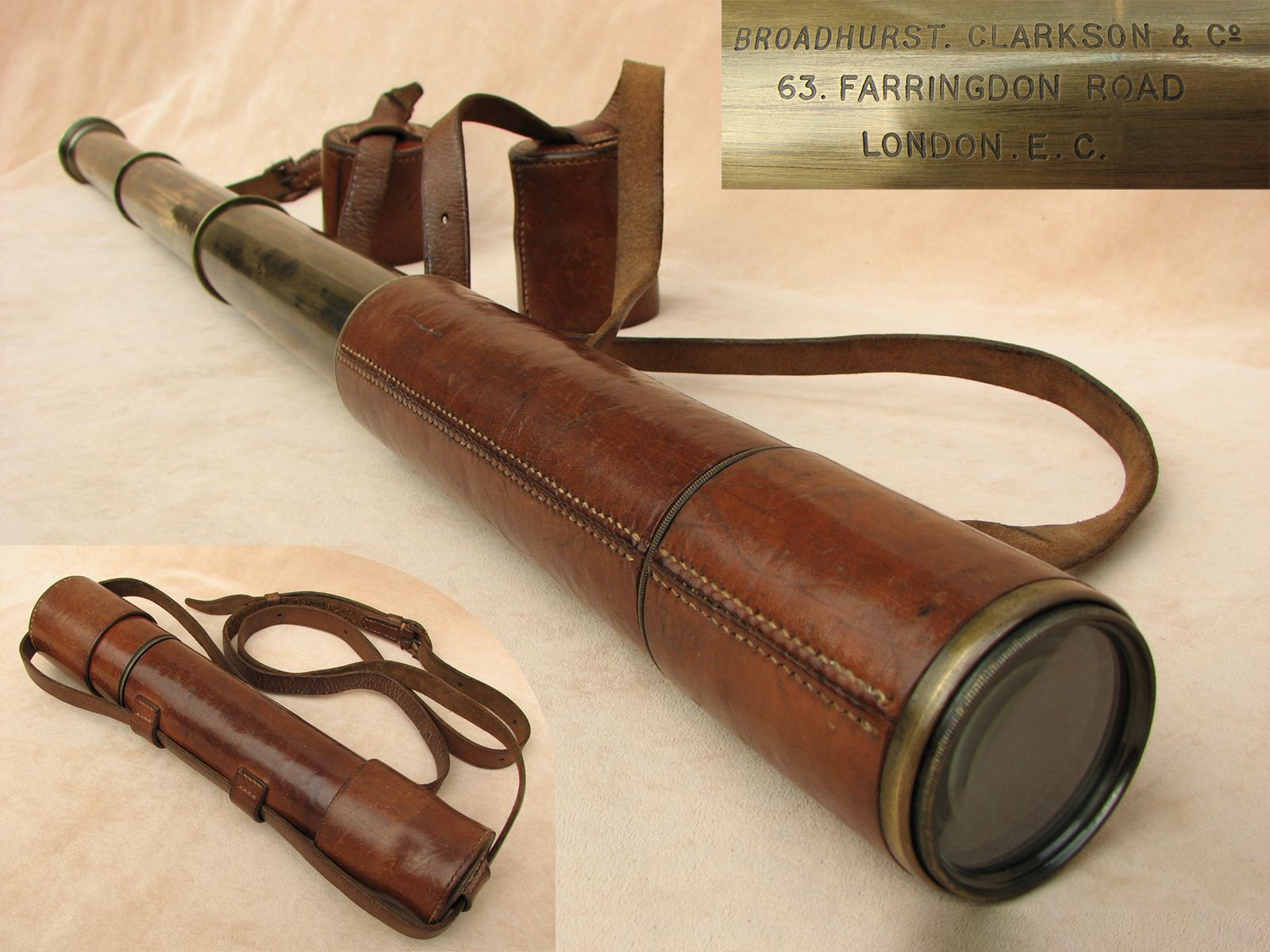 Powerful 25x-40x variable magnification field 'Tourist' telescope by Broadhurst Clarkson
