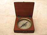 19th century Georgian mahogany cased pocket compass