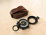 Francis Barker WW2 era MK IX prismatic marching compass in case