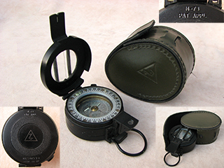 Francis Barker M-73 prismatic compass formerly of Iraqi Republican Guard
