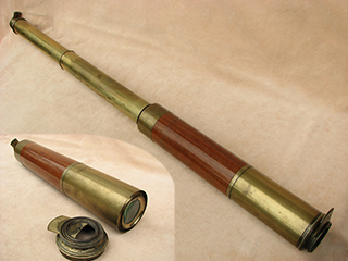 19th century brass and mahogany 