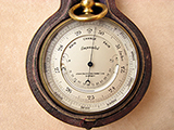 Antique pocket barometer with  thermometer signed John Davis & Son (Derby)