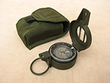 Francis Barker M-88 degrees version prismatic compass with pouch.