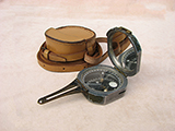 Rare Brunton compass by William Ainsworth dated 1942