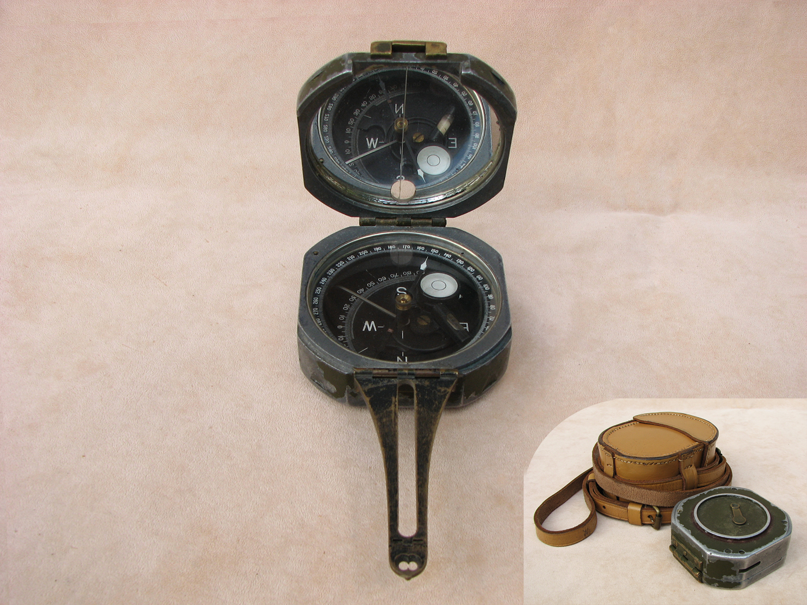 Rare Brunton M2 compass by William Ainsworth dated 1942