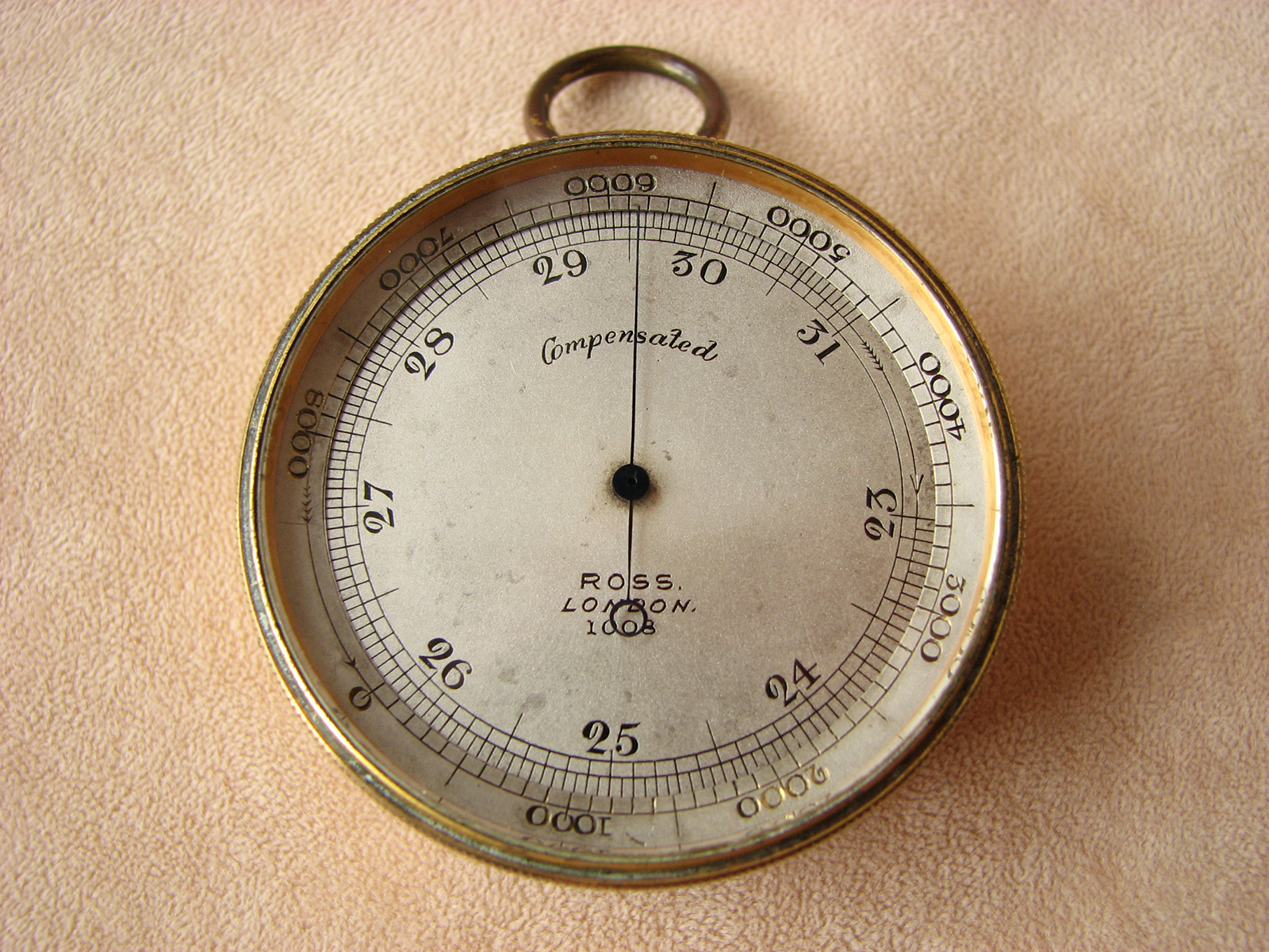 Antique Ross pocket barometer with Lord Napier inscription
