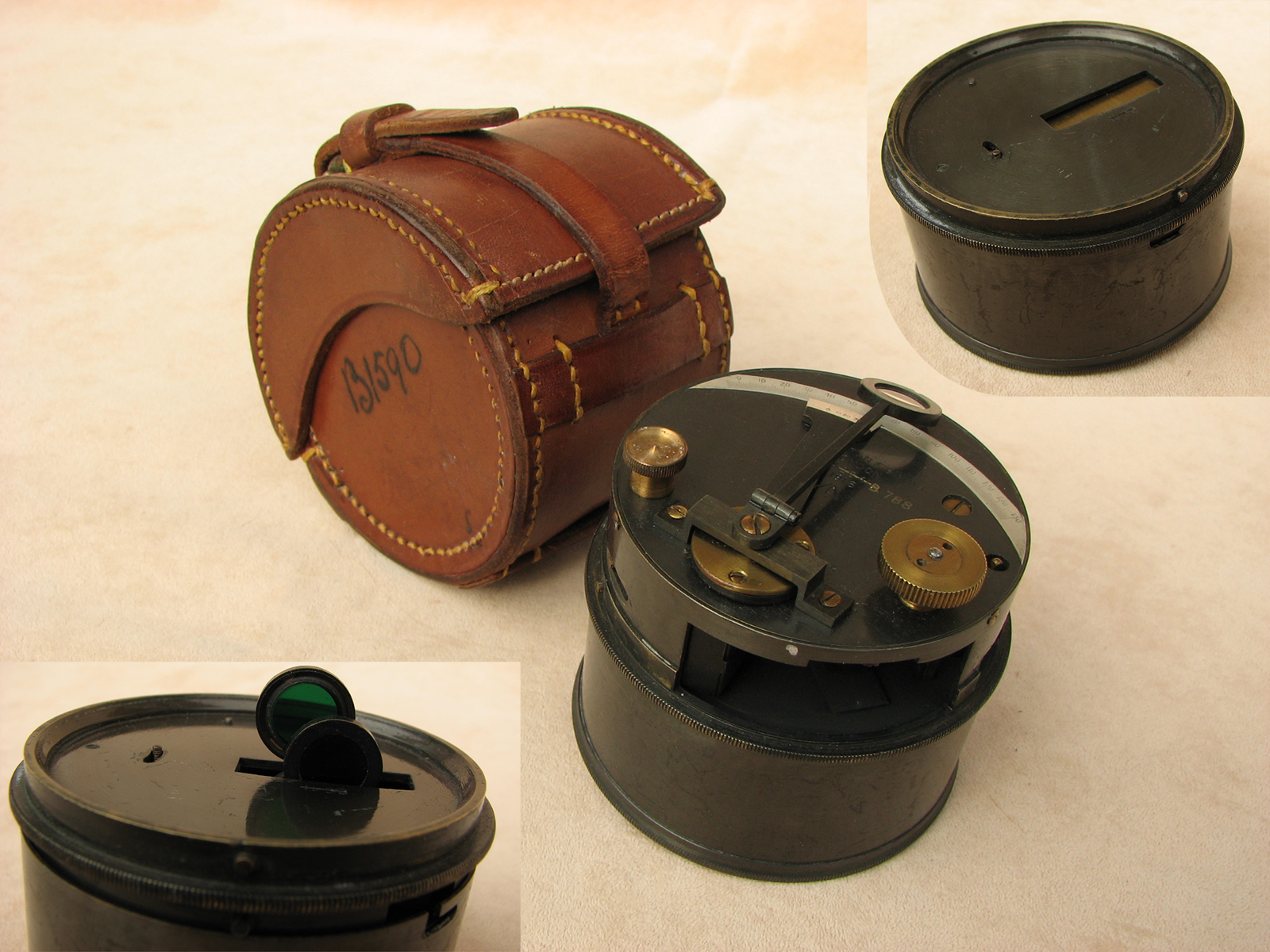 WW1 Troughton & Simms military pocket box sextant - dated 1916
